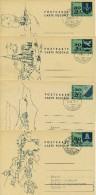 LIECHTENSTEIN 1968 - 16 ENTIERS POSTAUX OBLITERES POSKARTE/CARTE POSTALE - Stamped Stationery