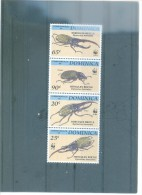 WWF- RP. DOMINICANA - INSECTOS 1804/1807/1205 (4V) 1994 MICHEL - Dominica (1978-...)