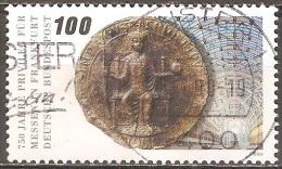 Allemagne - 1990 - Foire De Francfort – Sceau De Frédéric II Et Hall De La Foire - YT 1284 Oblitéré - [7] Federal Republic