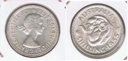 AUSTRALIA SHILLING 1955 PLATA SILVER Z - Australia