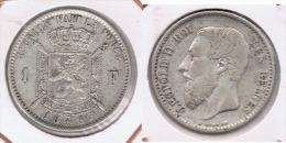 BELGICA FRANC FRANCO 1867 PLATA SILVER Z - 1865-1909: Leopoldo II