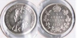 CANADA  5 CENT  DOLLAR   1912 Z.png MUY BONITA - Canada