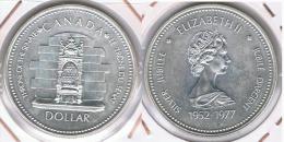 CANADA DOLLAR 1977 THRONE  PLATA SILVER Z - Canada