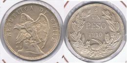 CHILE PESO SANTIAGO 1910 PLATA SILVER Z BONITO - Chile