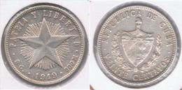 CUBA 20 CENTAVOS  PESO ESTRELLA 1949 PLATA SILVER  Z - Cuba