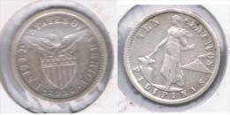 FILIPINAS 10 CENTAVOS EE.UU. USA 1918 PLATA SILVER Z - Filipinas