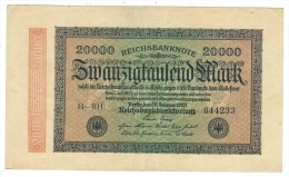 Allemagne // Deutschland // Billet 20000  Marks Type 1923 - [ 3] 1918-1933 : République De Weimar