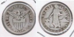 FILIPINAS 20 CENTAVOS EE.UU. USA 1919 PLATA SILVER Z - Filipinas