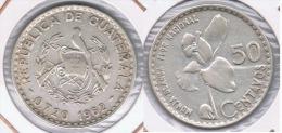 GUATEMALA 50 CENTAVOS MONJA BLANCA 1962 PLATA SILVER Z - Guatemala