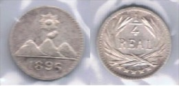 GUATEMALA CUARTO DE REAL 1896 PLATA SILVER Z BONITA - Guatemala