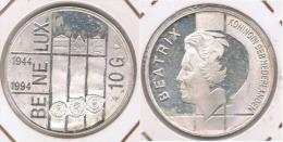 HOLANDA  10 GULDEN 1994 BENELUX PLATA SILVER Z - [ 3] 1815-… : Reino De Países Bajos