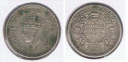 INDIA QUARTER  RUPIA RUPEE 1943 PLATA SILVER Z - India