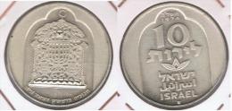 ISRAEL 10 LIROT 1974 PLATA SILVER Z - Israel