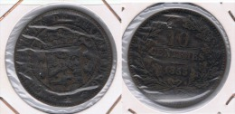 LUXEMBURGO LUXEMBOURG 10 CENTIMES FRANC 1855 Z - Luxemburgo