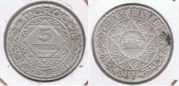 MARRUECOS IMPERIO 5 FRANCS 1352 PLATA SILVER Z - Marruecos