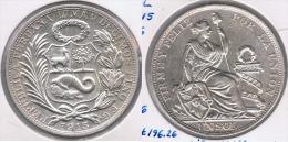 PERU  SOL 1915 PLATA SILVER. Z - Perú