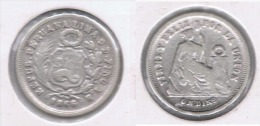 PERU DINERO 1866 PLATA SILVER - Perú