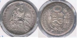 PERU MEDIO  SOL 1907 PLATA SILVER. Z MUY MUY BONITA SC UNIC - Perú