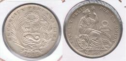 PERU MEDIO  SOL 1935 PLATA SILVER. Z MUY MUY BONITA SC UNIC - Perú