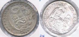 PERU MEDIO  SOL 1935 PLATA SILVER. Z1 - Perú