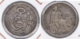 PERU QUINTO DE SOL 1903 PLATA SILVER. Z - Perú