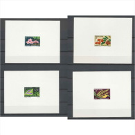 613 - Epreuve de luxe (deluxe proof) congo -  N�  268/274 4 valeurs fleurs (plants - flowers) orchides