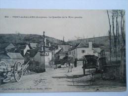 AVEYRON  CPA 341 PONT DE SALARS  - Le Quartier De La Rive Gauche, Animé Charrette, Cariole - France