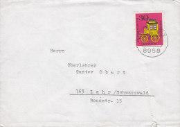 BRD 516 EF Auf Brief, Mit Stempel: Füssen 26.9.1965 - [7] République Fédérale