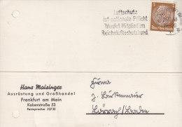 DR 513 EF Auf Postkarte Der Fa. Hans Maisinger, Ausrüstung Und Großhandel, Stempel: Frankfurt AM 26.10.1940 - Deutschland