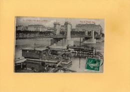 B3108 - LYON - Les Quais Du Rhône - Pont De L'Hôtel Dieu - Lyon