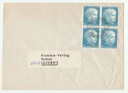 1965 SWITZERLAND COVER Pmk TPO  BAHNPOST AMBULANT On 4x 1964 PRO JUVENTUTE Stamps  Train Railway - Switzerland
