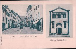 Italie, Aosta Rue Croix De Ville, Chiesa Evangelica (3609) - Aosta