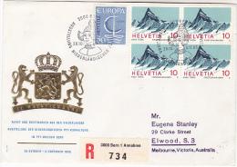 1966 SWITZERLAND NEDERLANDISCHER EVENT COVER Pmk Illus DUTCH WOMAN WITH HAT , Cover Illus EMBOSED HERALDIC LIONS Lion - Switzerland