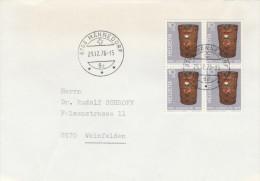1975 COVER Multi Stamps PRO JUVENTUTE Postmans HAMPER MAIL BAG SWITZERLAND Post - Switzerland