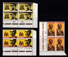 SOUTH AFRICA, 1968, MNH Control Block Of 4, Herzog Memorial, M 375-377 - South Africa (1961-...)