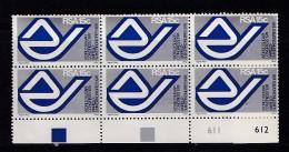 SOUTH AFRICA, 1974, MNH Control Block Of 6, Sugar, Congress, M 443 - South Africa (1961-...)