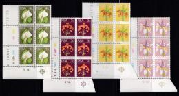 SOUTH AFRICA, 1974, MNH Control Block Of 6, Definitive´s Flora & Fauna, M 447-462 - South Africa (1961-...)