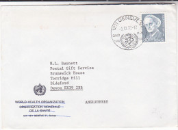1982  SWITZERLAND Stamps COVER From WHO Pmk 30th ANNIV WORLD HEALTH ORGANIZATION Un United Nations - WHO