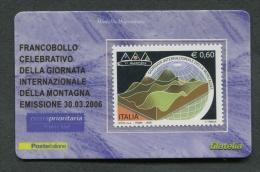 ITALIA TESSERA FILATELICA 2006 - GIORNATA INTERNAZIONALE DELLA MONTAGNA - 106 - 6. 1946-.. Republik