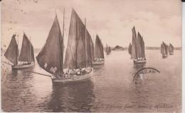 1914 Cornish Fishing Fleet Leaving Harbour Written To France - Sin Clasificación