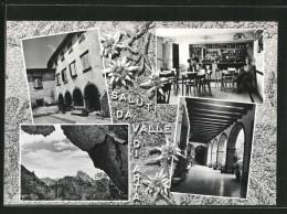 Cartolina Arta, Interno Ed Esterni Del Bar Urban Aurelio, Il Monte Sernio D Grotta Bareit - Altre Città
