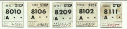 5 Tickets - STCP (Sociedade de Transportes Colectivos do Porto) Portugal