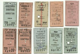 10 Tickets - CP (Comboios de Portugal) Portugal