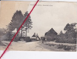 CP 62  -    SAULTY - Route De La Gare  (en état - 1 Tâche) - France