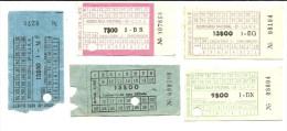 5 Tickets - C.E.P. - Rodoviaria Nacional - Portugal