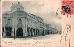 ! Alte Ansichtskarte Ecuador, Guayaquil, Banco De Credito Hipotecario, Hypothekenbank, 1905 - Equateur