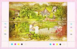 Singapore 2015 Botanic Gardens UNESCO World Heritage Site 2v Set MNH Otter Hornbill Orchid - UNESCO