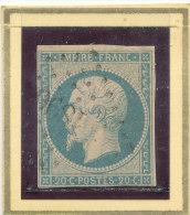 N°14 NUANCE ET OBLITERATION ( ET, OU VARIETE ) - 1853-1860 Napoléon III.