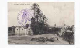 CPA MAROC - EL-KSAR - Mosquée Sidi Jacob - Jolie Vue ANIMATION - TB TAMPONS MILITAIRES RECTO-VERSO + Jolie Oblitération - Otros
