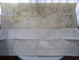 Belgie Militaire Stafkaart ROISIN ( Mons ) 51 - 1/40.000 Anno 1908 ( Oudere 2de Hands Kaart ) ! - Europe